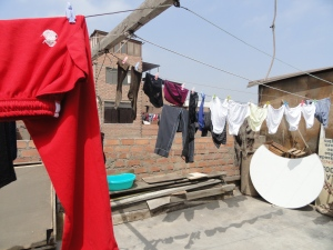 Taking advantage of a sunny day to wash clothes