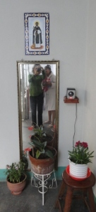 Paulina and I under San Martin de Porres