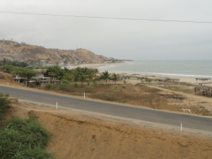 The view of Caleta Grau from the Panamerican Highway